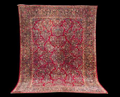 Red Sarouk Oriental Room Size Rug