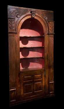 Connecticut 18thC Architectural Corner Cupboard