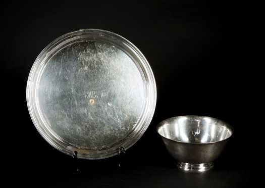 Tiffany & Co. Makers Sterling Silver Tray and Bowl