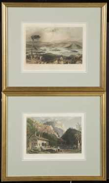 Two White Mountain NH Historic Colored Prints