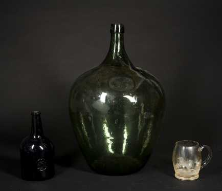 Three Early Blown Glass Items