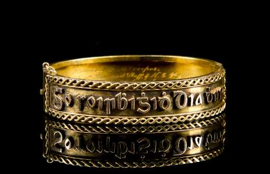 Gold Victorian Bracelet with Gaelic