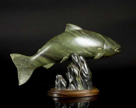 Inuit Carved Salmon by Alexander