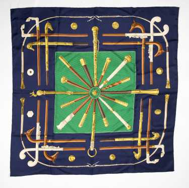 """Hermes Silk Scarf """"Cannes & Pommeaux"""""""