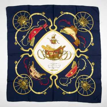 "Hermes Paris Scarf ""Springs"""