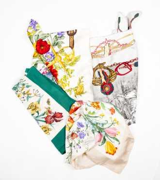 Gucci Floral Motif Scarves