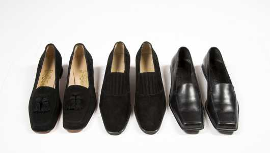 Three Pairs of Salvatore Ferragamo Shoes