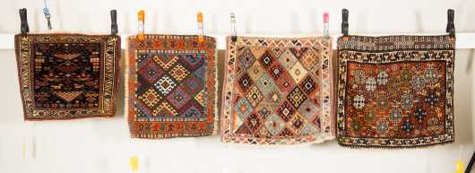 Four Caucasian Oriental Rug Bag Faces