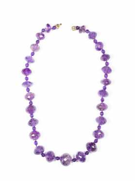 Strand of Faceted Amethyst Beads