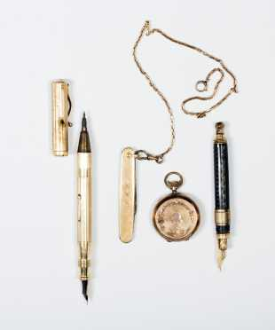 Tiffany & Co Gold Pen and Other Gold Items