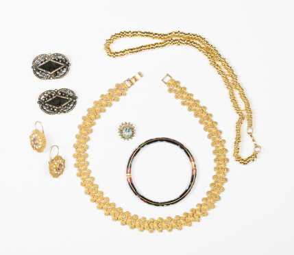Lot of Costume and Vermeil Jewelry