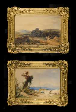 Pair of 19thC English Watercolor Landscapes