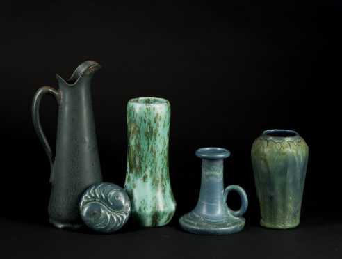 "Multi Shades of Green ""Hampshire Pottery"" Lot"