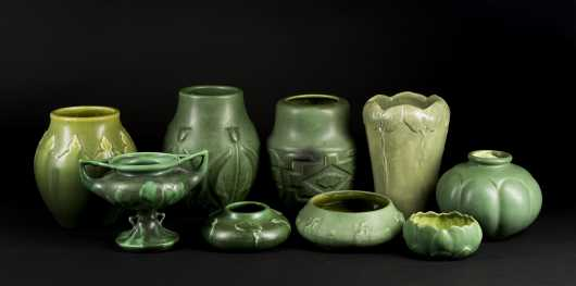 "Green ""Hampshire Pottery"" Lot"