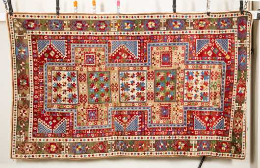 Kazak (Caucasian) Oriental Scatter Rug