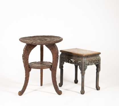 Two Carved Chinese Export Tables
