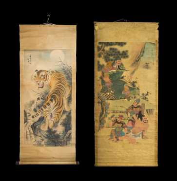Two Early Chinese Scroll Paintings