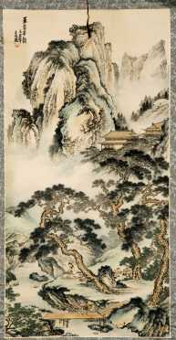 Three Chinese Scroll Paintings