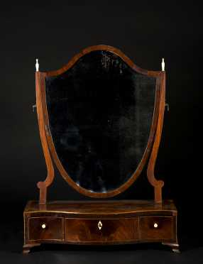 Mahogany English Regency Dressing Mirror