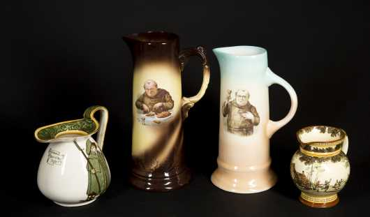 Royal Doulton and Limoge Pitchers