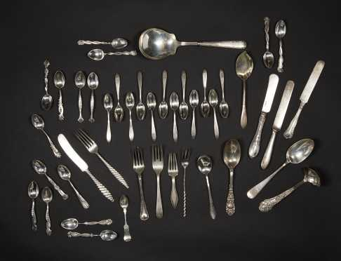 Large Miscellaneous Lot of Sterling Silver Flatware