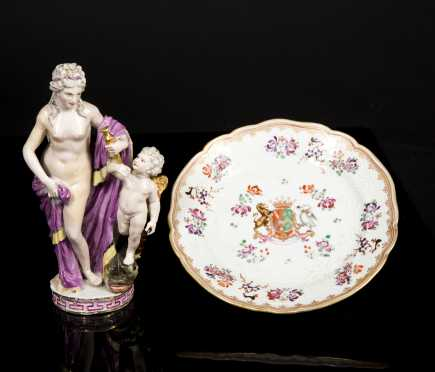 Two Continental Porcelain Pieces *AVAILABLE FOR $125*