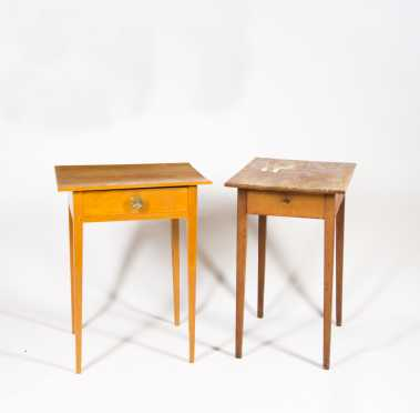 Two Tapered Leg One Drawer Stands