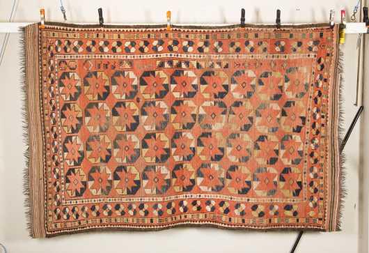 Hamadan Caucasian Room Size Oriental Rug