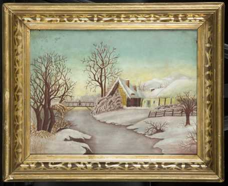 Unknown Artist, Primitive Winter Landscape