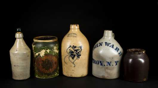 Four Miscellaneous Pieces Stoneware