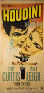 Large Houdini Movie Poster