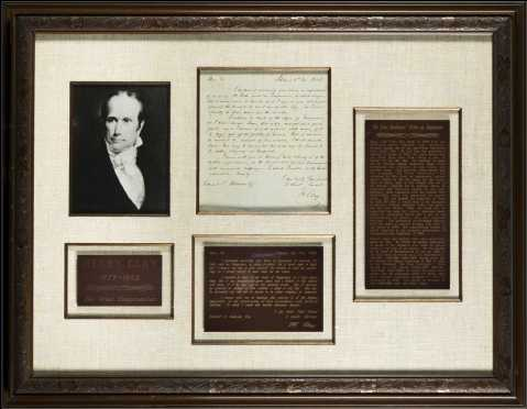 """Henry Clay (1777-1852) """"Writes on Temperance"""""""