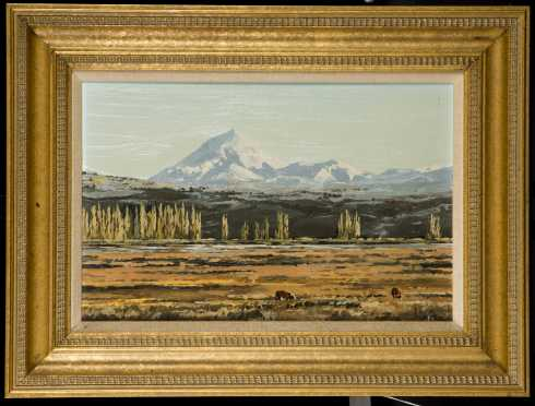 Oil Painting of a South Western Plains Scene