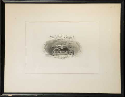 """Hunneman & Co. Boston Fire King Pumper"" Print"