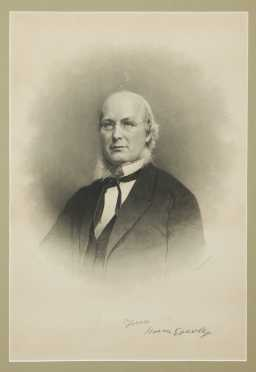 """Horace Greeley"" Sign Print"
