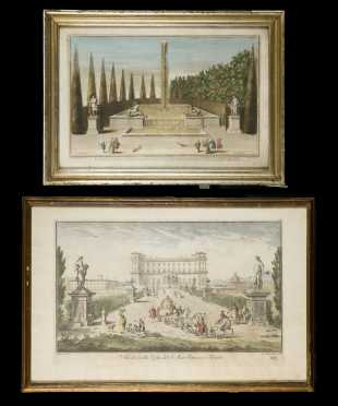 Two Colored Continental 18thC Prints