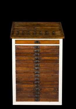 Type Setters Multi Drawer Work Cabinet