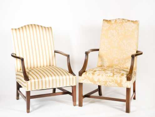 Two Hepplewhite Style Lolling Chairs