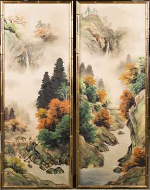 Two Chinese Hanging Panel Paintings