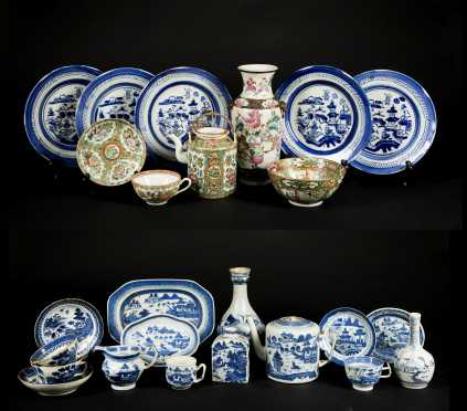 Large Lot of Chinese Export Porcelain