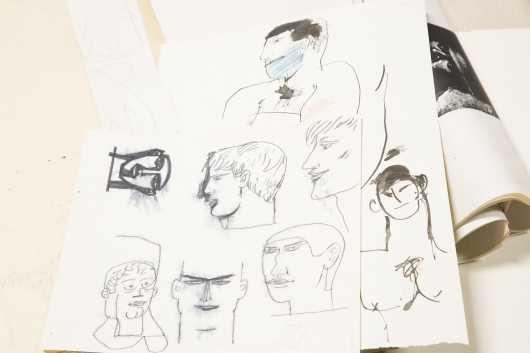 Omni Saari, Large Miscellaneous Lot of Drawings