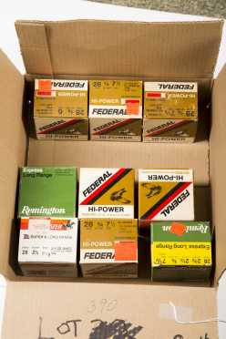 Lot of Seven Boxes of 28 Gauge Ammo