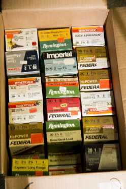 Lot of Twenty-Nine Boxes of 20 Gauge Ammo