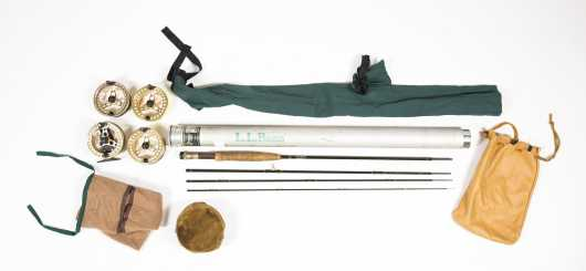 "L. L. Bean Double L Four Piece 8'-6"" Graphite Rod"