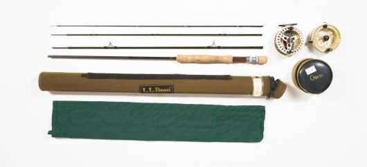 L. L. Bean Guide Four Piece 9� Graphite Rod for #8 Line
