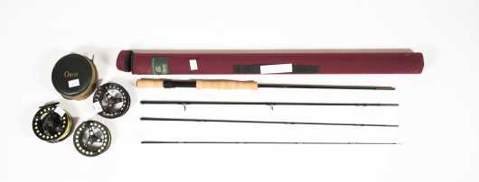 "Orvis Trident Mid Flex Four Piece 9'- 6"" Graphite Rod for #8 Line"