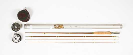 "Wright & McGill Vintage ""Queen of Waters"" 9' Four Piece Bamboo Rod"