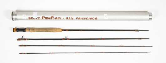 Early San Francisco Manufacture Scott G Series �PowR-Ply� 9� 2.5 ounce Two Piece Graphite Rod for #6 Line