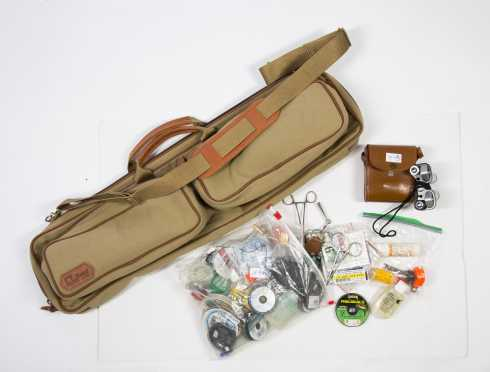 Miscellaneous Lot Containing a Fishing Bag