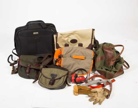 Lot of Five Fishing/Cartridge Bags.